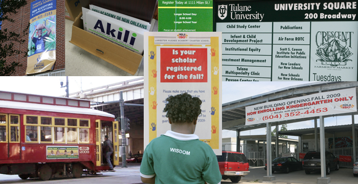 New Orleans charter schools use a mix of advertising and outreach ...